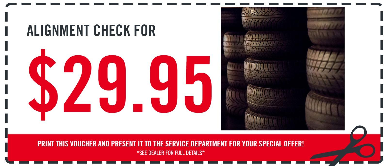Alignment Check for $29.95